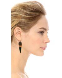 Heather Hawkins Brown Water Buffalo Horn Earrings - Natural