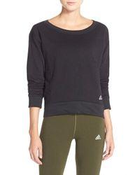 Adidas Originals | Black '24 Seven' Pullover Sweatshirt | Lyst