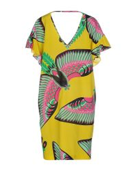 P.A.R.O.S.H. - Yellow Short Dress - Lyst