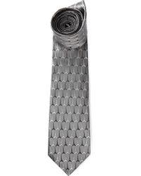 KENZO   Gray Eiffel Tower Tie for Men   Lyst