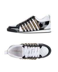 DSquared² | White Low-tops & Trainers for Men | Lyst