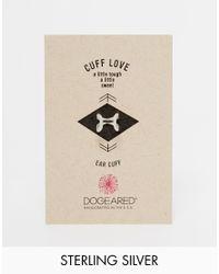 Dogeared - Metallic Sterling Silver Cuff Love Infinity X Ear Cuff - Lyst