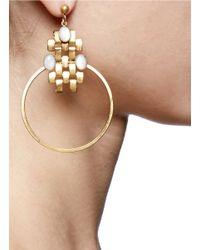 Ela Stone - Metallic Nicole Chain Loop Earrings - Lyst
