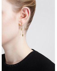 Asherali Knopfer - Metallic 18Kt Gold Interchangeable Bar, Pearl And Spike Earrin - Lyst