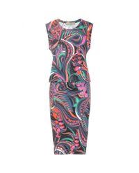 Emilio Pucci Pink Silk-blend Jersey Dress
