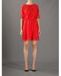 Boutique Moschino Red Lace Dress