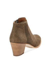 Aerin | Green Olive Suede Booties | Lyst