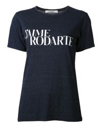 Rodarte Blue Graphic Tshirt