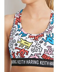 Forever 21 Multicolor High Impact - Keith Haring Sports Bra