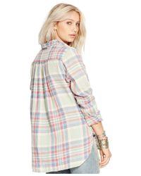 Denim & Supply Ralph Lauren - White Plaid Boyfriend Shirt - Lyst