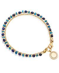 Astley Clarke | Metallic Gold-plated Lapis Cosmos Biography Diamond Bracelet | Lyst