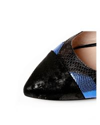 Moda In Pelle Blue Ilaria Low Smart Shoes