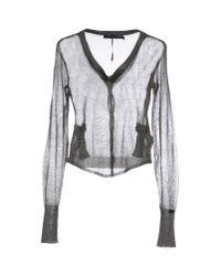 Calvin Klein Jeans - Gray Cardigan - Lyst