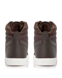 Lacoste - Brown Orelle Put Fur Lined Hi Top Trainers for Men - Lyst