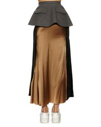 Undercover Contrasting Panels Layered Skirt