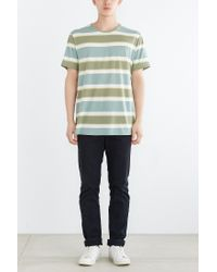 BDG | Green Morrow Stripe Standard-fit Tee for Men | Lyst