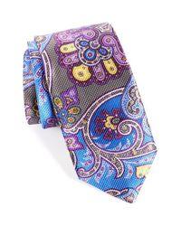 David Donahue - Purple Paisley Silk Tie for Men - Lyst