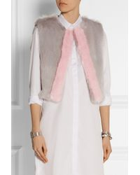 Shrimps   Gray Perry Two-Tone Faux Fur Gilet   Lyst