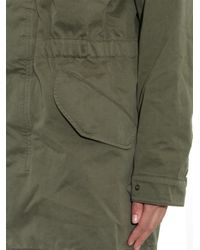 Tomas Maier Green Hooded Cotton-Twill Parka