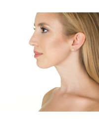 Emily & Ashley | Metallic White Diamond Starburst Stud Earrings | Lyst