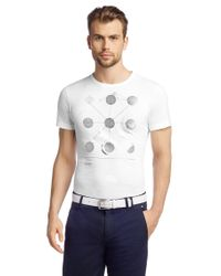 BOSS Green White T-Shirt 'Tee Mk' From The Martin Kaymer Collection for men