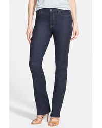 Jen7 | Blue Stretch Straight Leg Jeans | Lyst