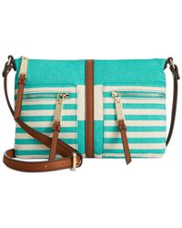 Tommy Hilfiger | Blue Woven Rugby East West Crossbody | Lyst