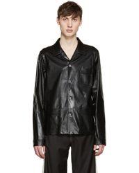 Loewe Black Leather Jacket for men
