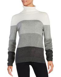 Calvin Klein Gray Colorblocked Turtleneck