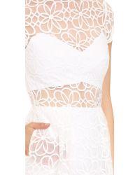 Nicholas - Organza Lace Tulip Dress - White - Lyst