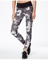 Betsey Johnson Black Rose-print Leggings