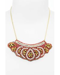 TOPSHOP | Orange Embellished Collar Necklace | Lyst