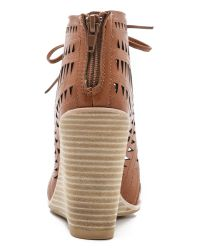 Jeffrey Campbell Brown Rodillo Wedges - Tan