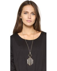 Alexis Bittar - Metallic Articulating Encrusted Fringe Necklace - Lyst