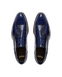 Dune Black | Blue Rainforest Crocodile Lace Up Formal Gibson Shoes for Men | Lyst