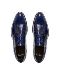 Dune Black - Blue Rainforest Crocodile Lace Up Formal Gibson Shoes for Men - Lyst