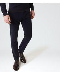 Reiss | Blue Pontus T Corduroy Trousers for Men | Lyst