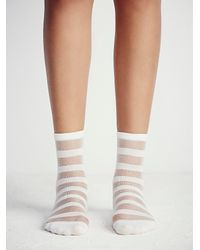 Free People - White Shine Womens Stripe Mono Anklet - Lyst