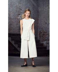 Tibi - White Agathe Bow Jumpsuit - Lyst