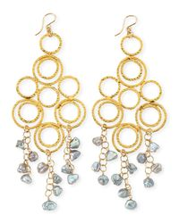 Devon Leigh | Gray Freshwater Pearl Multi-circle Chandelier Earrings | Lyst