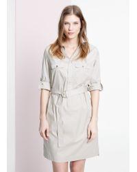 Violeta by Mango Natural Belt Shirt Dress