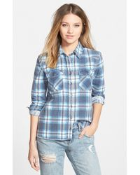 Billabong | Blue 'out Of Bounds' Flannel Shirt | Lyst