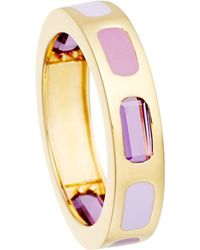 Astley Clarke | Purple 18ct Gold Vermeil Amethyst Enamel Ring - For Women | Lyst