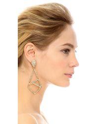 Alexis Bittar Metallic Miss Havisham Mosaic Crystal Geometric Clip-on Drop Earrings