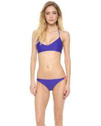 Basta Surf | Blue Zunzal Reversible Bikini Top | Lyst