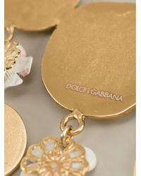Dolce & Gabbana Metallic Roman Coin Earrings
