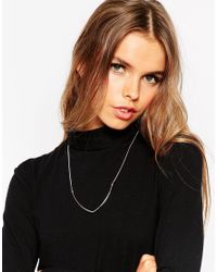 ASOS - Yellow Simple Curved Bar Necklace - Lyst