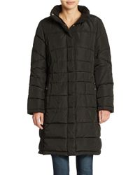Calvin Klein | Black Quilted Walker Coat | Lyst