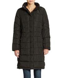 Calvin Klein | Black Quilted Walker Coat | Lyst
