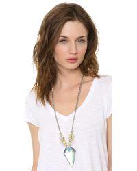 Alexis Bittar - Blue Wreathed Flint Pendant Necklace Denim Deco - Lyst